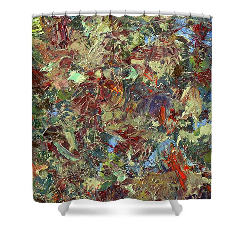 Abstract Shower Curtain featuring the painting Paint Number 21 by James W Johnson