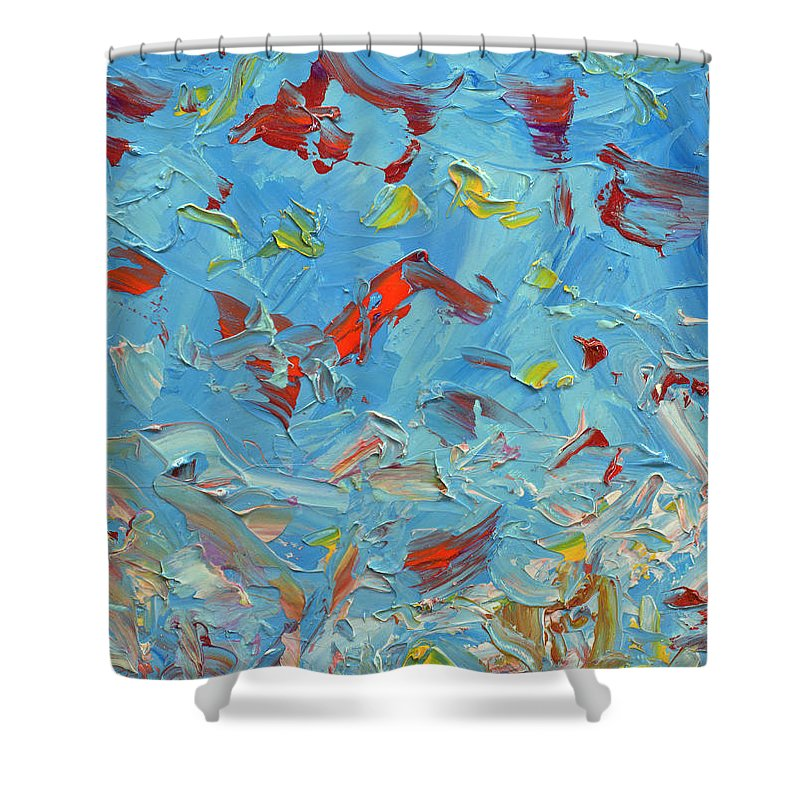 Abstract Shower Curtain featuring the painting Paint Number 47 by James W Johnson