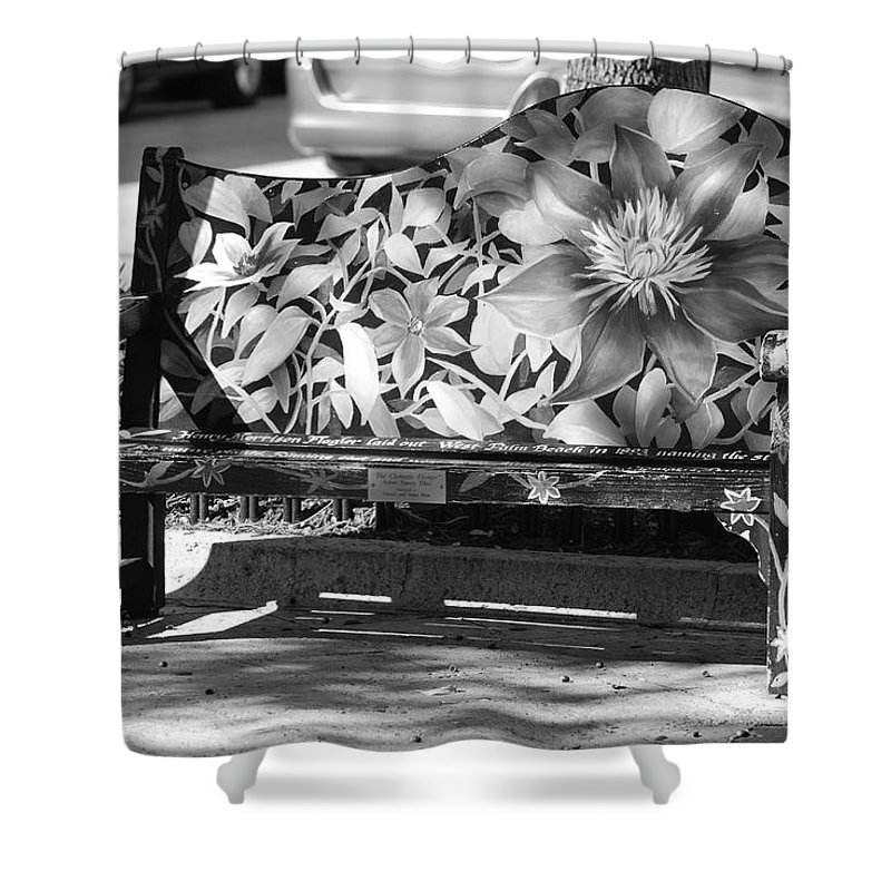 Pop Art Shower Curtain featuring the photograph Painted Bench by Rob Hans