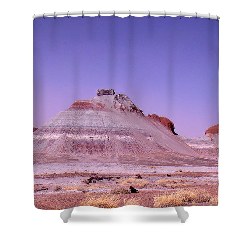 Painted Desert Shower Curtain featuring the photograph Painted Desert Tepees by Merja Waters