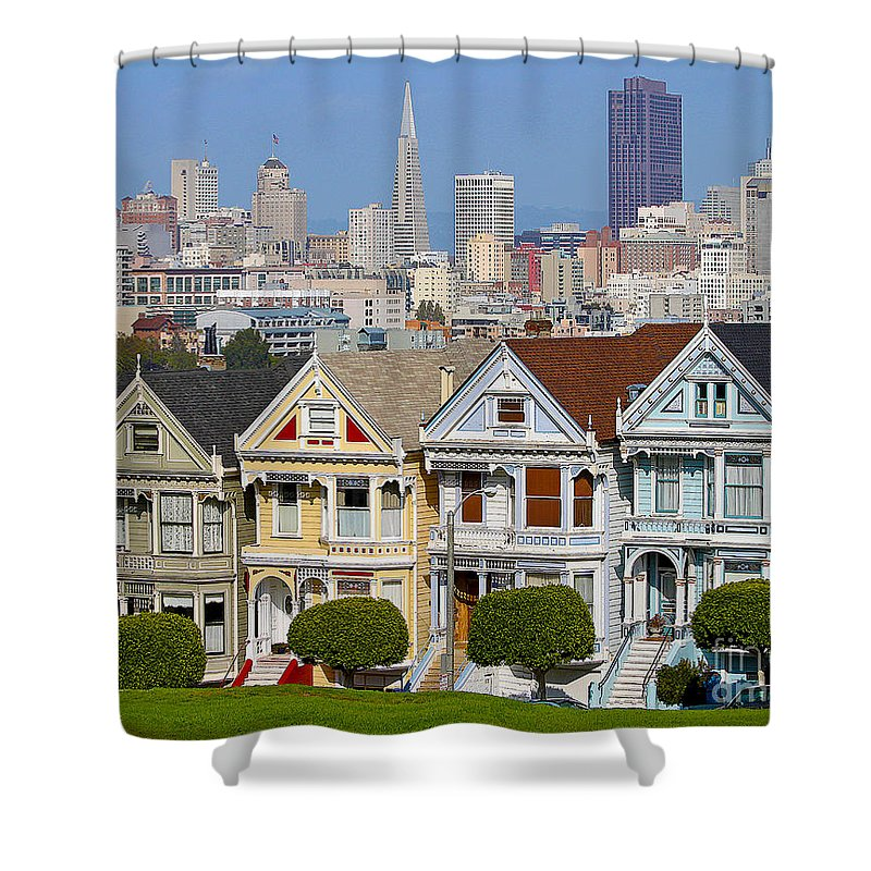 Painted Ladies Shower Curtain featuring the photograph Painted Ladies by Jack Schultz