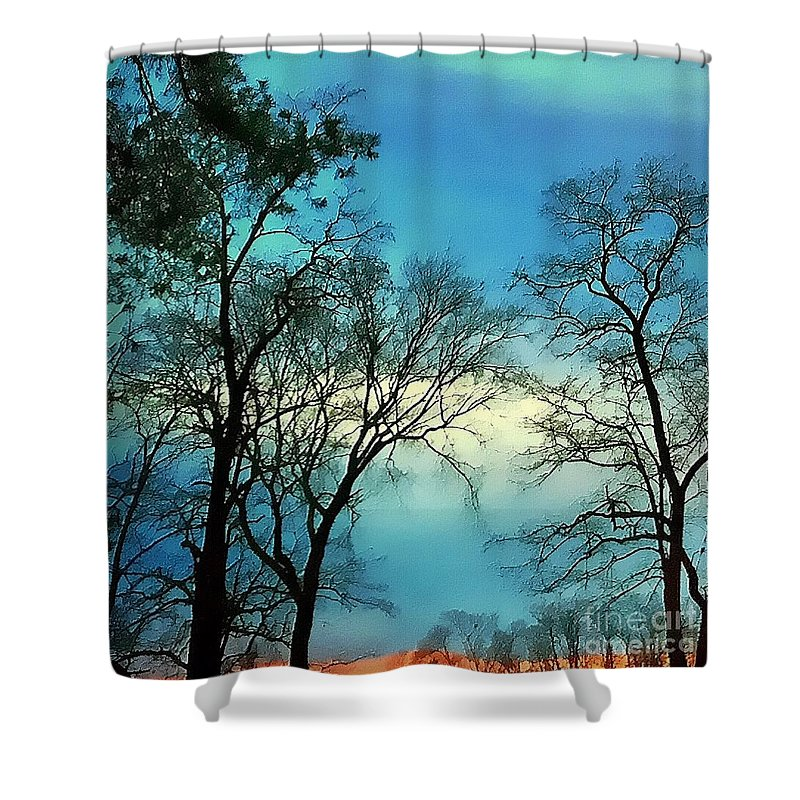 Sunset Shower Curtain featuring the photograph Painted Sunset by Drue DeMatteis