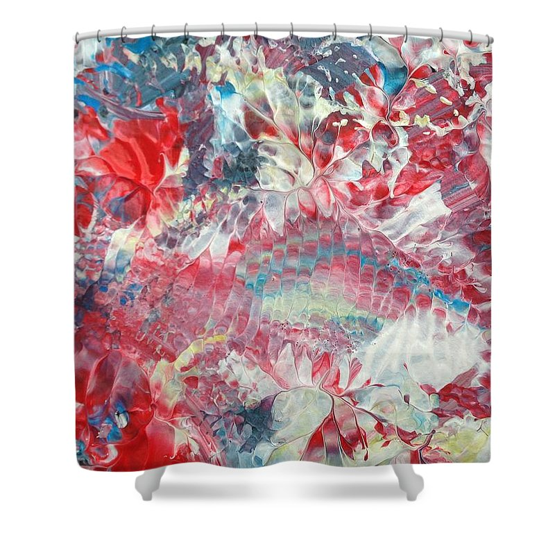 Print Shower Curtain featuring the painting Painted Thought 2 by Charity Janisse