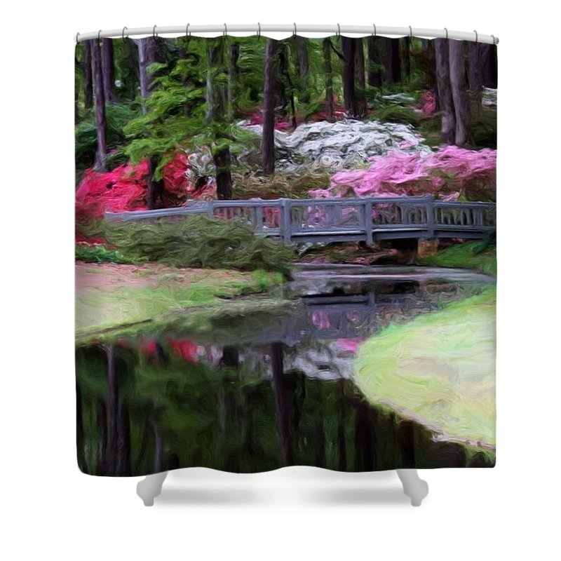 Calloway Gardens Shower Curtain featuring the painting Painting At Calloway by Robert Meanor