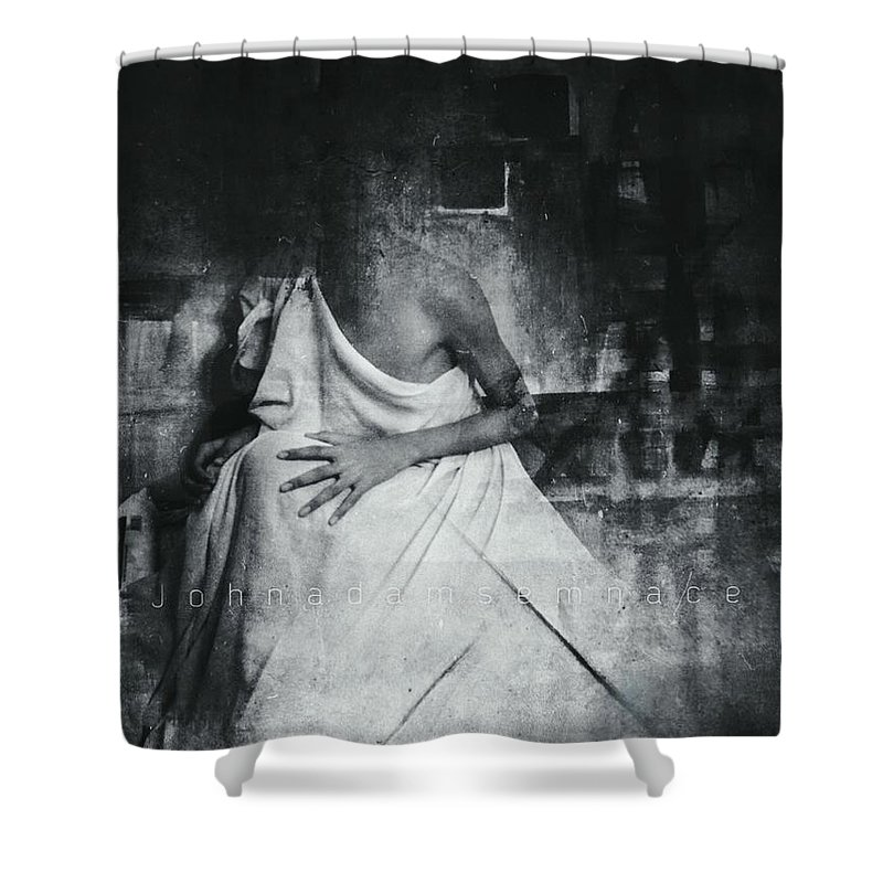 Darkart Shower Curtain featuring the photograph Paintless by John Adams Emnace