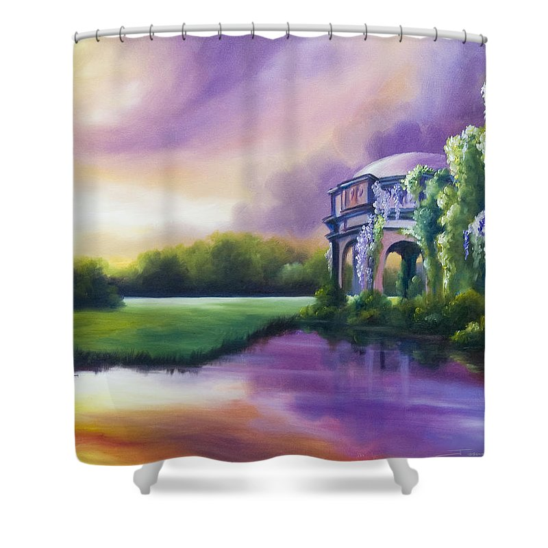 Marsh Shower Curtain featuring the painting Palace Of The Arts by James Christopher Hill
