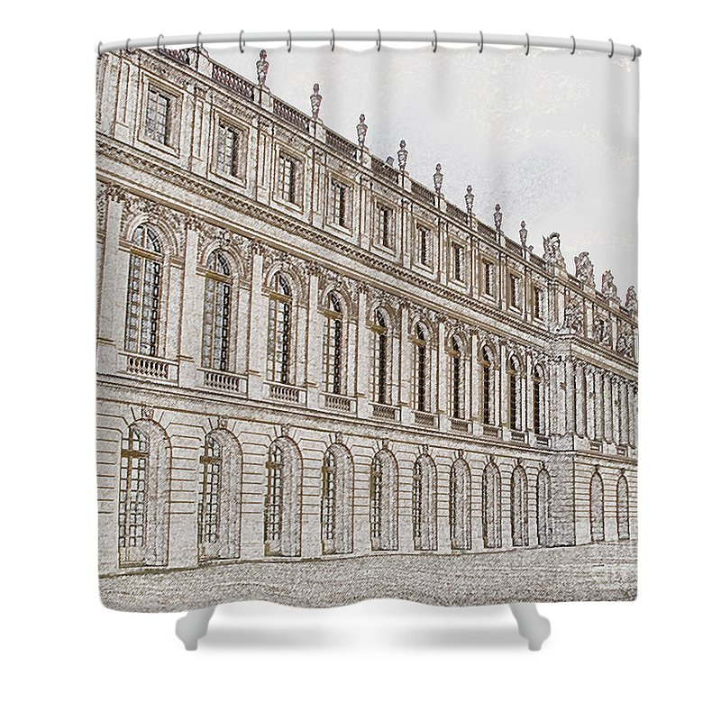 France Shower Curtain featuring the photograph Palace Of Versailles by Amanda Barcon