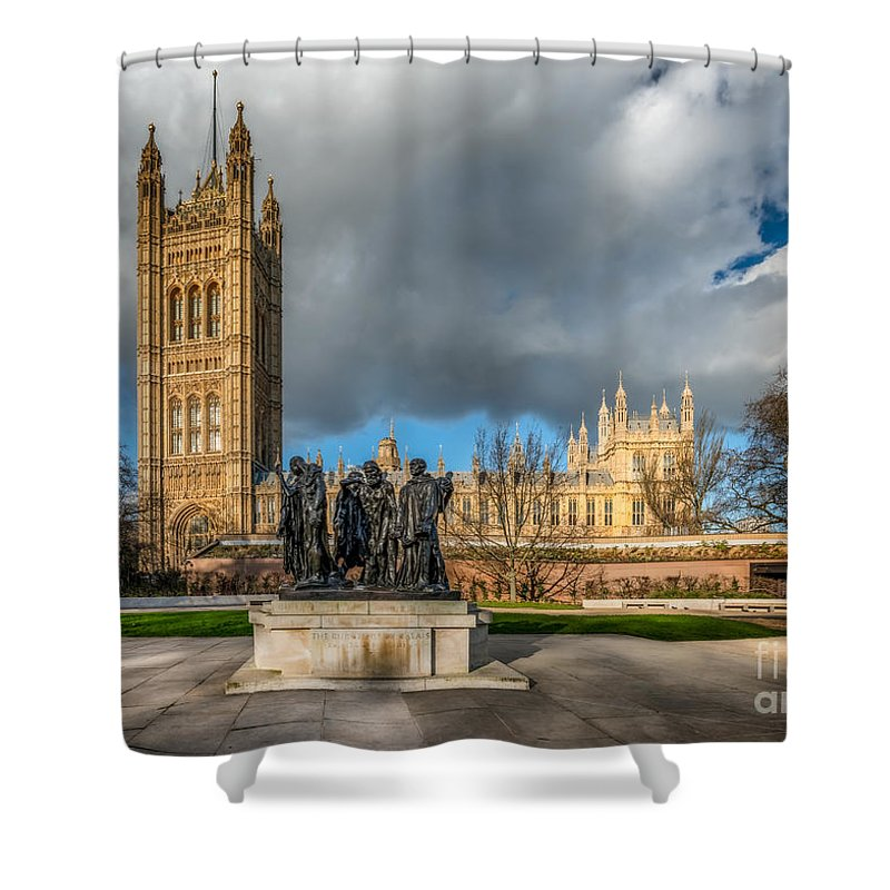 London Shower Curtain featuring the photograph Palace Of Westminster by Adrian Evans