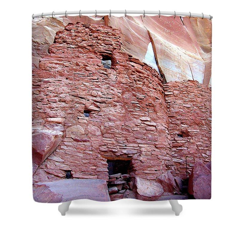 Sedona Shower Curtain featuring the photograph Palatki Site by Gina Janelli