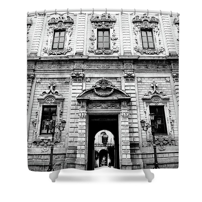 Architecture Shower Curtain featuring the photograph Palazzo Dei Celestini by Steven Myers