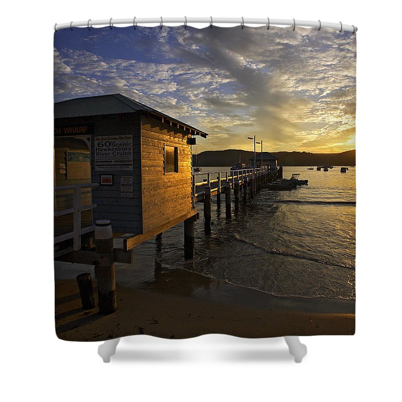 Palm Beach Sydney Australia Sunset Water Pittwater Shower Curtain featuring the photograph Palm Beach Sunset by Sheila Smart Fine Art Photography