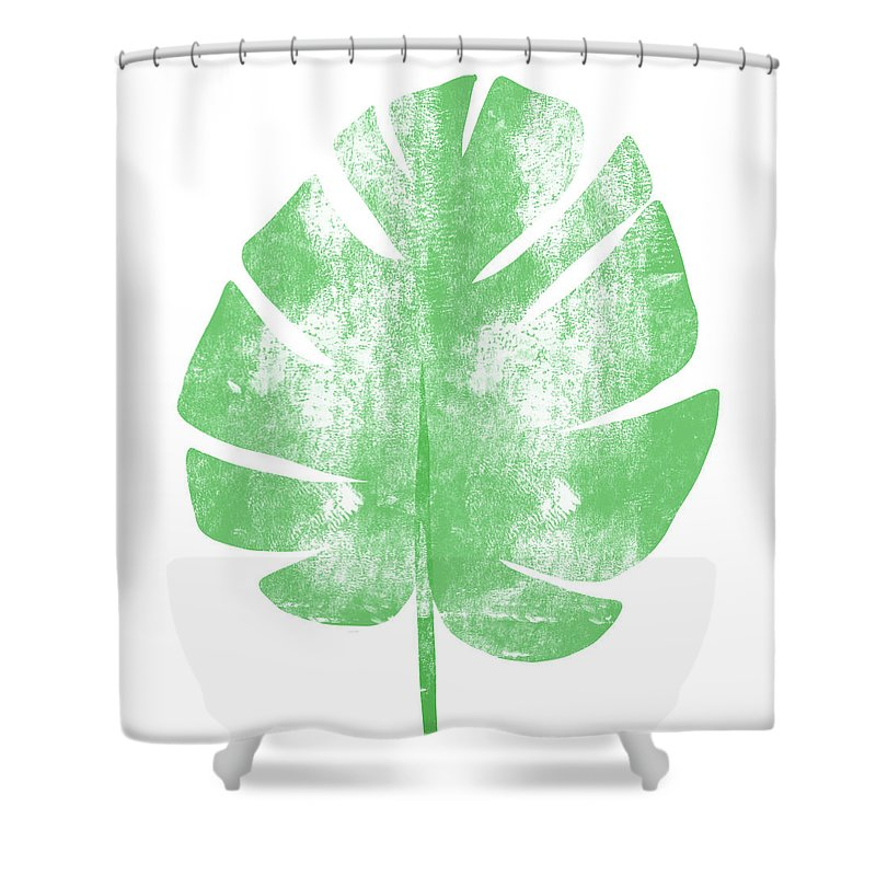Palm Shower Curtain featuring the painting Palm Leaf- Art By Linda Woods by Linda Woods