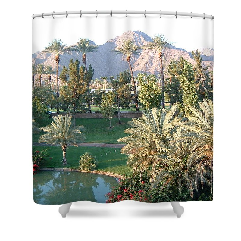 Landscape Shower Curtain featuring the photograph Palm Springs Ca by Cheryl Ehlers