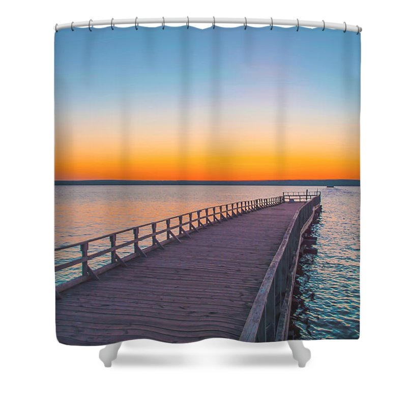 Ashland Shower Curtain Featuring The Photograph Pamida Beach Sunset By Gabe Jacobs