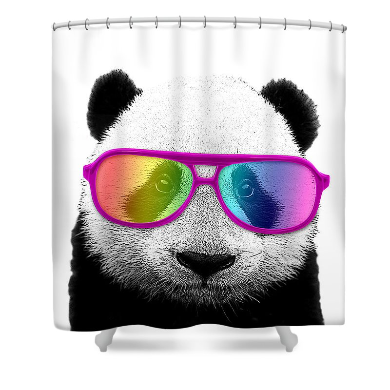 Panda Bear With Rainbow Glasses Shower Curtain For Sale By Madame Memento