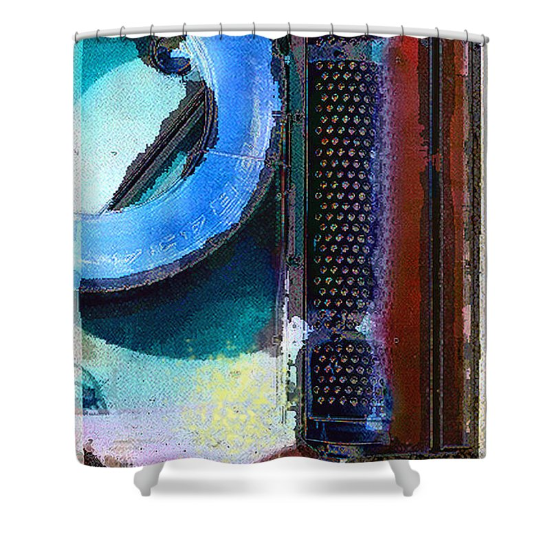 Abstract Shower Curtain featuring the photograph panel one from Centrifuge by Steve Karol