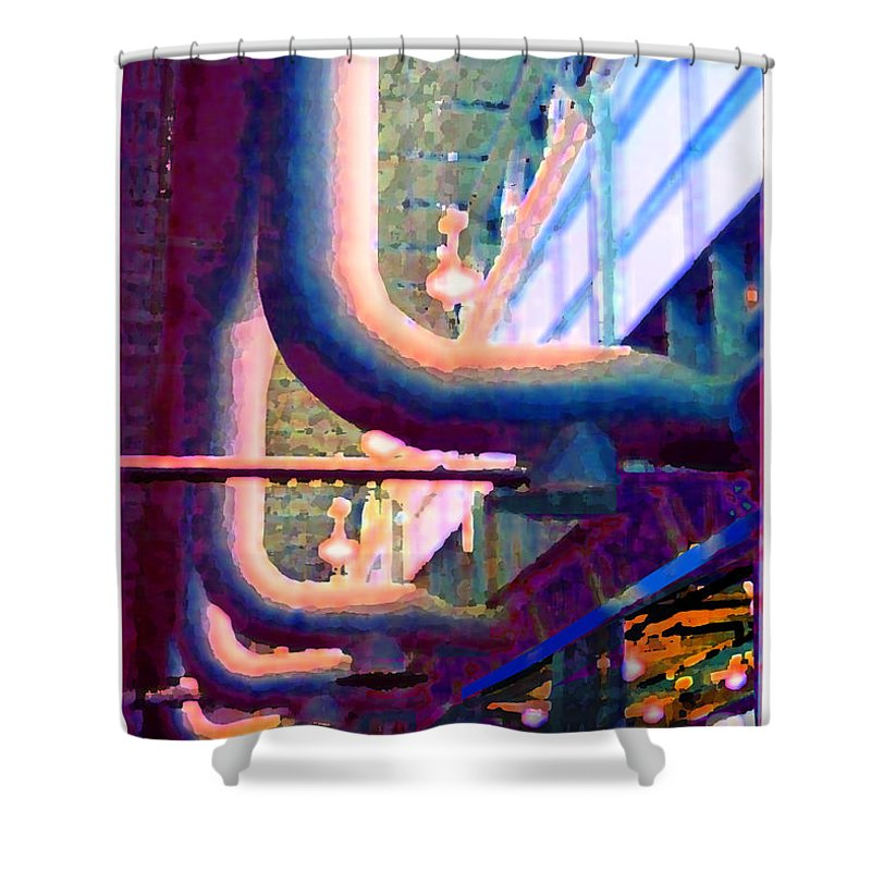 Abstract Shower Curtain featuring the photograph panel one from Star Factory by Steve Karol