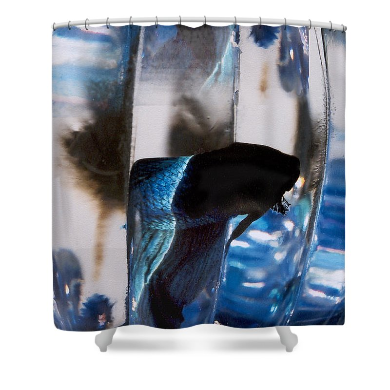 Abstract Shower Curtain featuring the photograph panel three from Swirl by Steve Karol