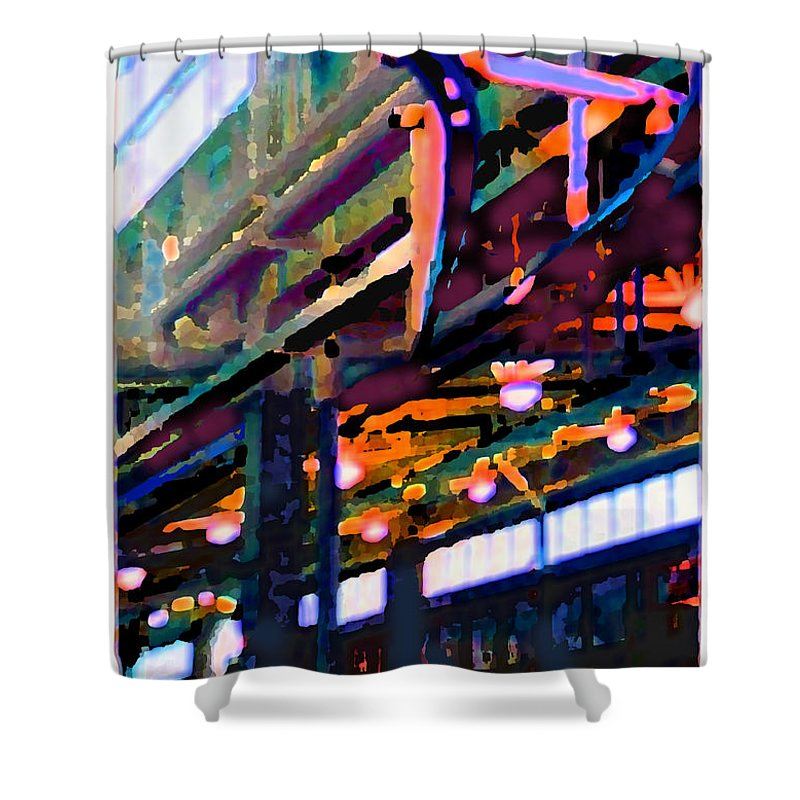 Abstract Shower Curtain featuring the photograph panel two from Star Factory by Steve Karol