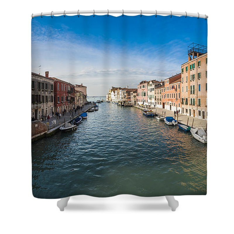 Shower Curtain featuring the photograph Panorama Of Venice by Riccardo Zimmitti