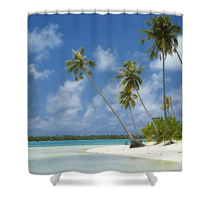 Beach Shower Curtain featuring the photograph Paradise - Maupiti Lagoon by Kyle Rothenborg - Printscapes
