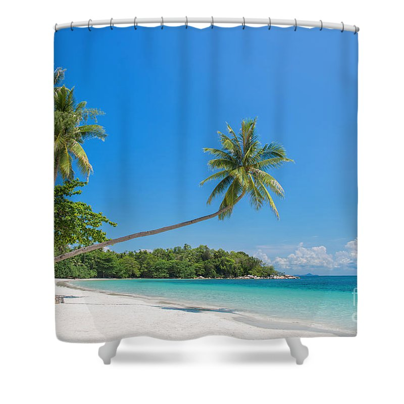 Beach Shower Curtain featuring the photograph Paradise Beach by Delphimages Photo Creations