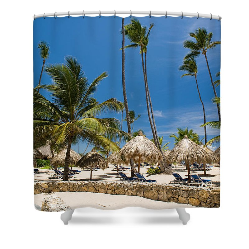 Beach Shower Curtain featuring the photograph Paradise Beach by Sebastian Musial
