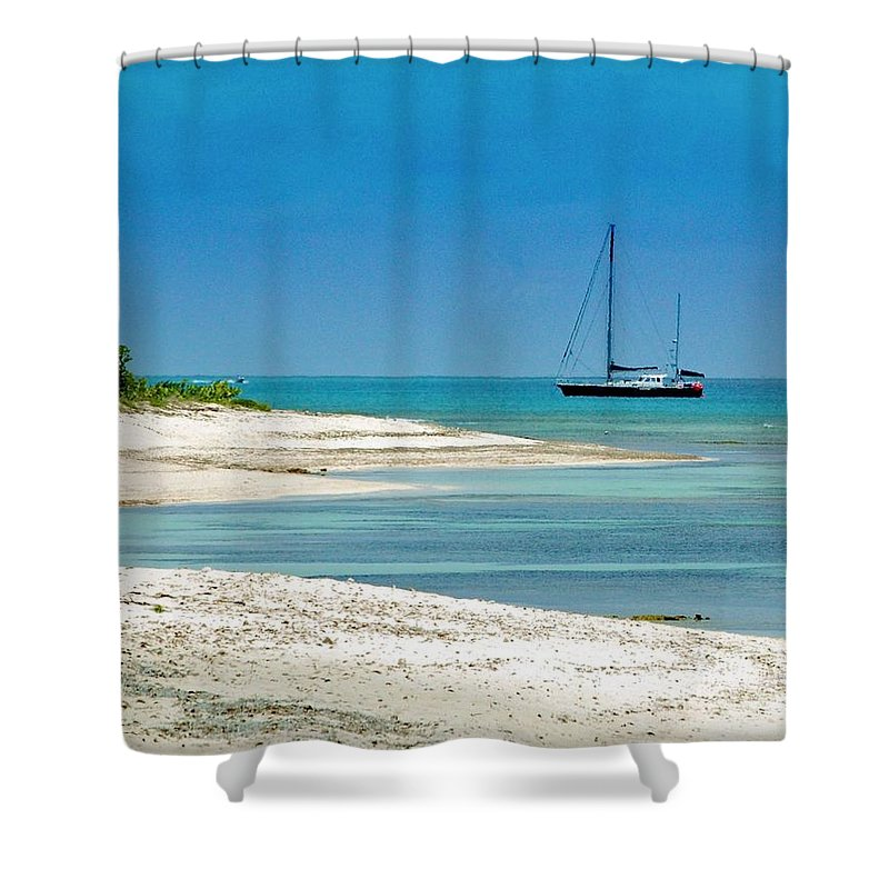 Boat Shower Curtain featuring the photograph Paradise Found by Debbi Granruth