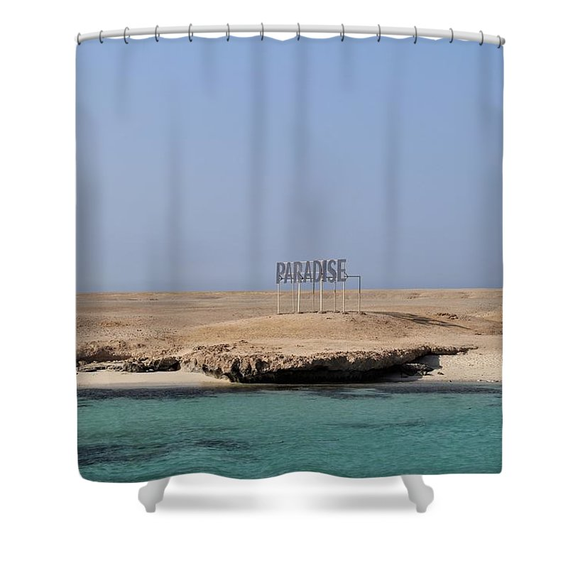 Paradise Shower Curtain featuring the photograph Paradise Island by Dave Lees