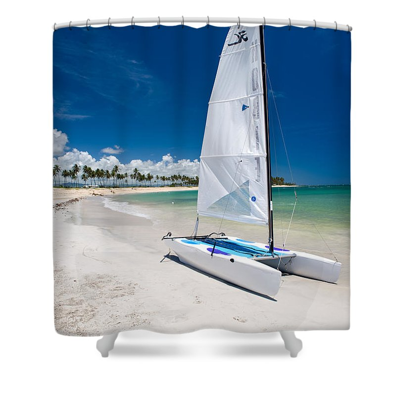 Island Shower Curtain featuring the photograph Paradise Island by Sebastian Musial