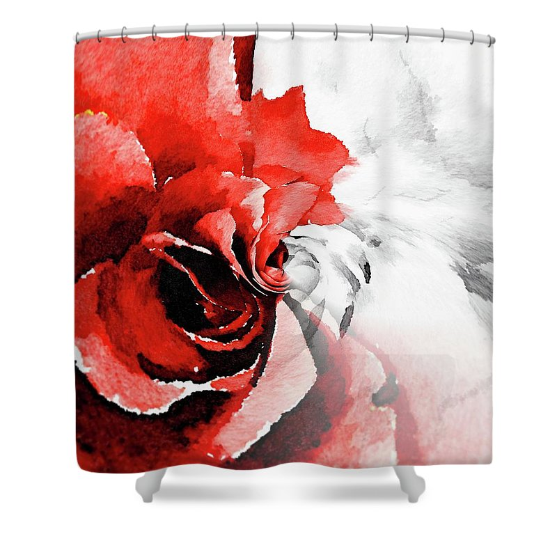 Flowers Shower Curtain featuring the painting Paradox 1 by Jamie Holbrook