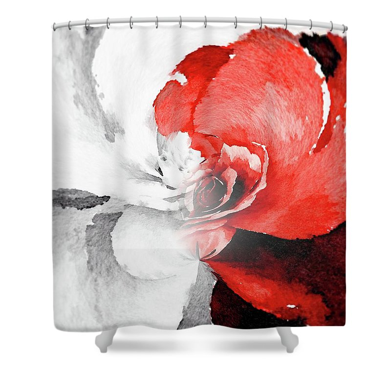 Flowers Shower Curtain featuring the painting Paradox 6 by Jamie Holbrook