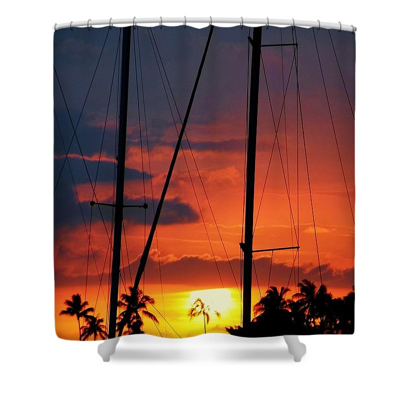 Hawaii Shower Curtain featuring the photograph Parallel Light Source by Mitch Cat