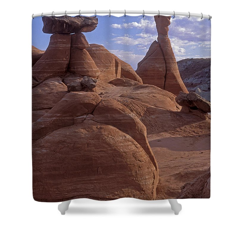 Southwest Shower Curtain featuring the photograph Paria Canyon Hoodoos by Sandra Bronstein