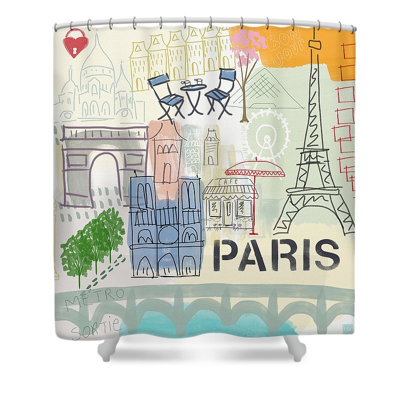 French Paintings Shower Curtains