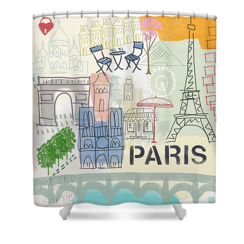 Paris Shower Curtains