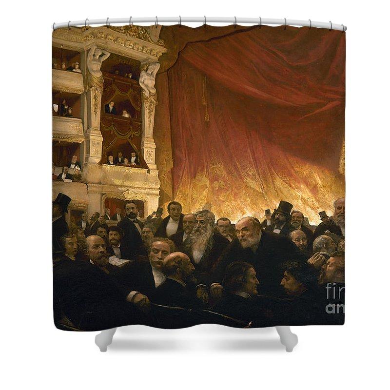 1885 Shower Curtain featuring the photograph Paris: Comedie Francais by Granger