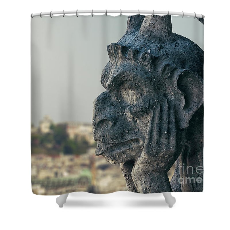 Gargoyle Shower Curtain featuring the photograph Gargoyle Of Paris by Marcus Lindstrom
