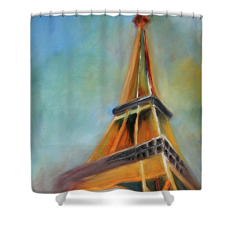 Eiffel Tower Shower Curtains