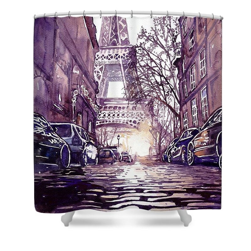 Vintage French Magazines Shower Curtains