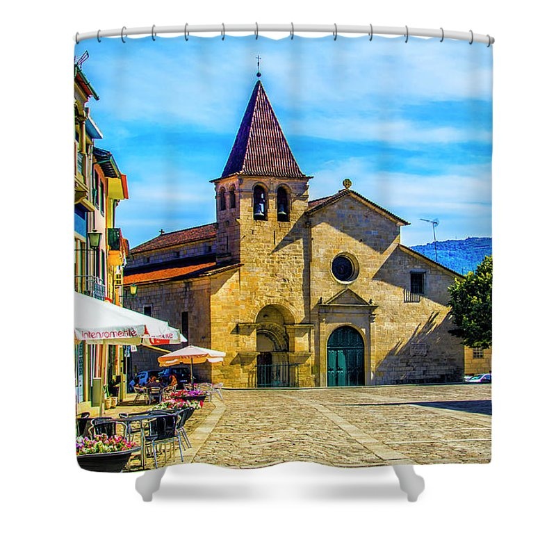 Chaves Shower Curtain featuring the photograph Parish Church Of Chaves by Roberta Bragan