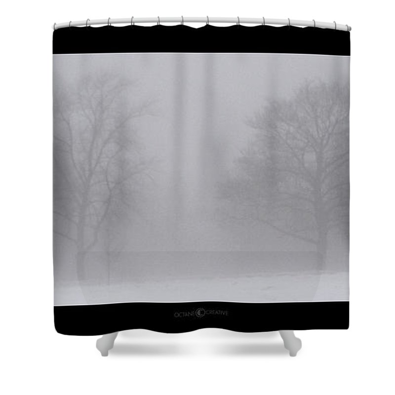 Fog Shower Curtain featuring the photograph Park In Winter Fog by Tim Nyberg