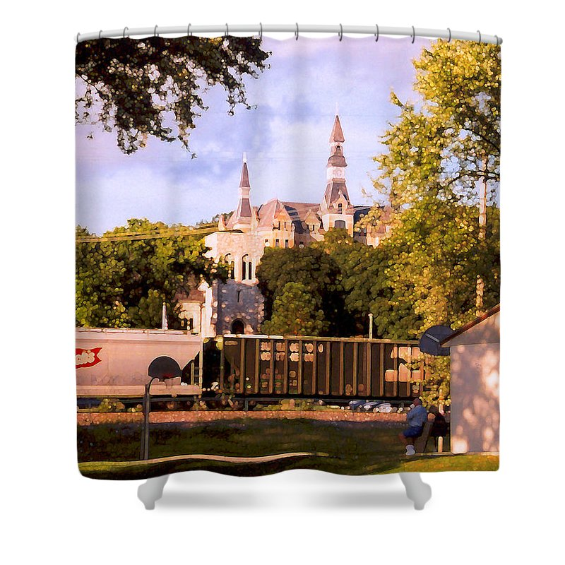 Landscape Shower Curtain featuring the photograph Park University by Steve Karol