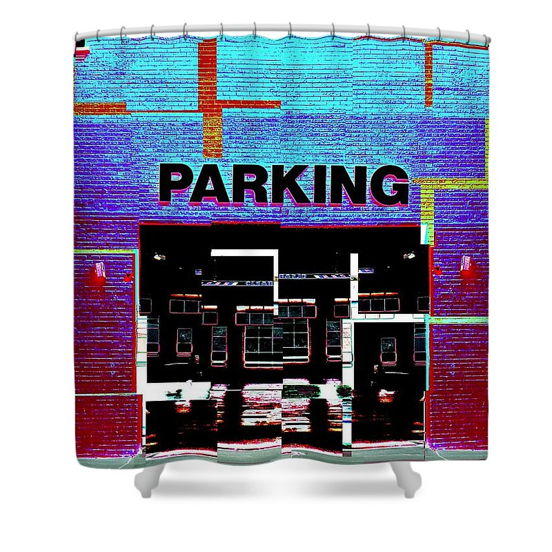 Parking Lot Shower Curtain featuring the digital art Parking by Tim Allen