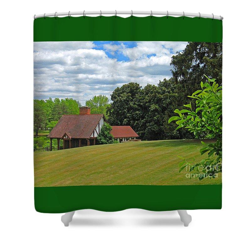 Landscape Shower Curtain featuring the photograph Parkland Cottage by Ann Horn