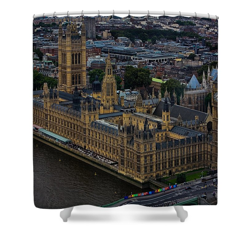 Houses Shower Curtain featuring the photograph Parliament by Chris Lord