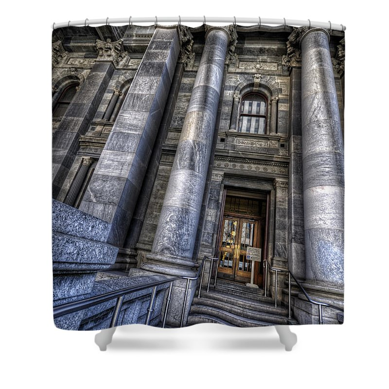 Adelaide Shower Curtain featuring the photograph Parliament House by Wayne Sherriff