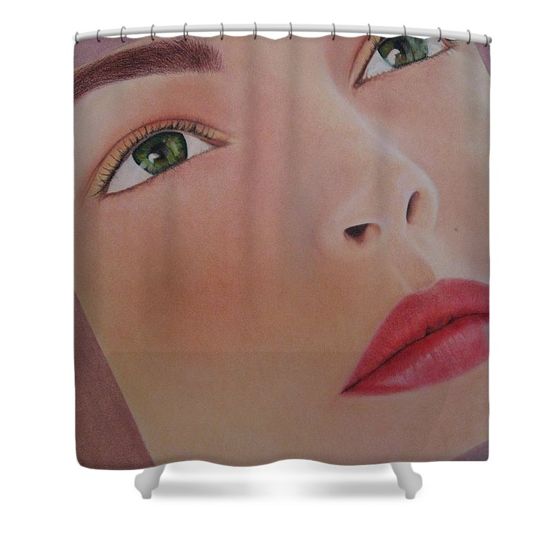Woman Shower Curtain featuring the painting Part Of You 1 by Lynet McDonald