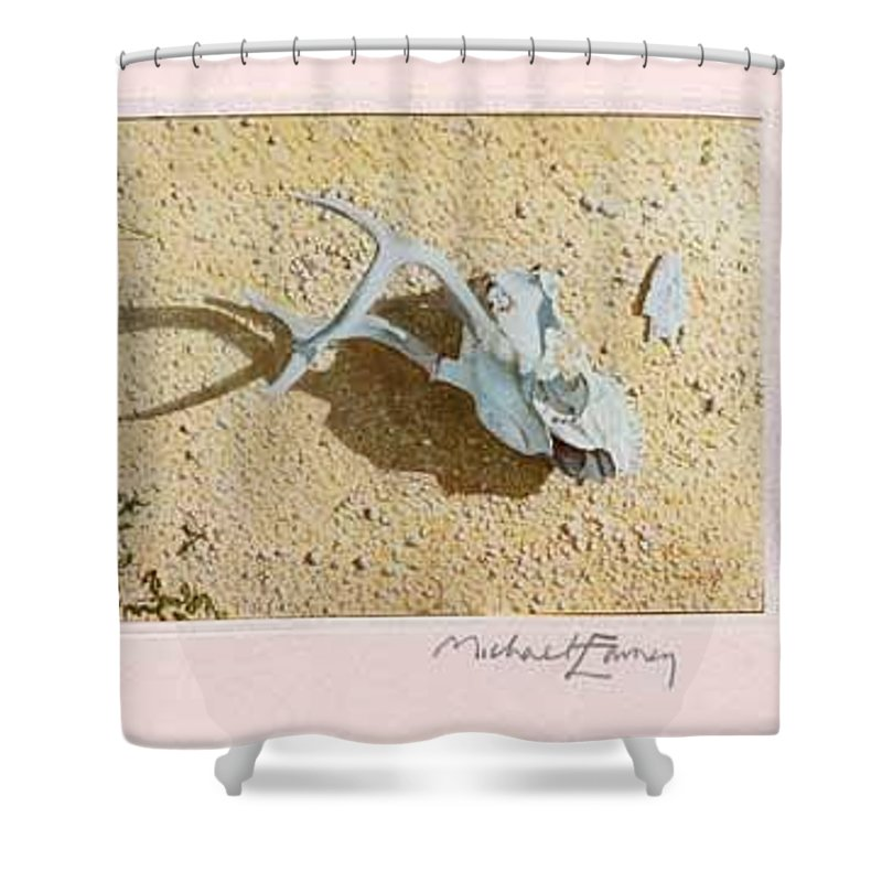 Hyperrealism Shower Curtain featuring the painting Partially Buried Frog Fruit by Michael Earney