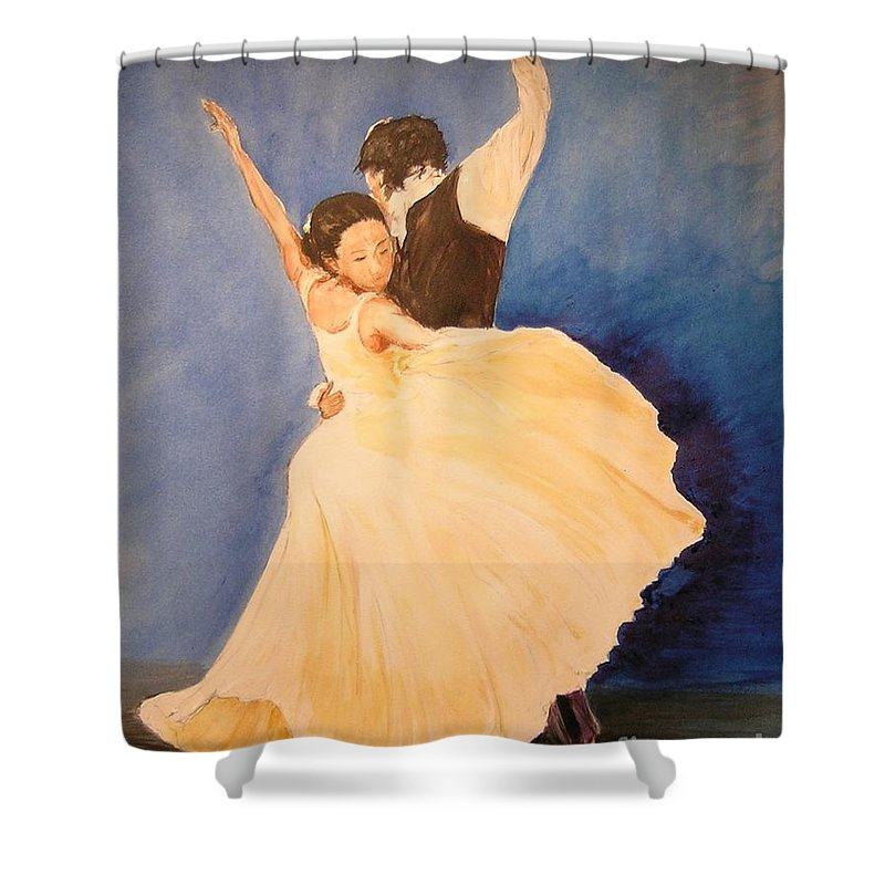 Spain Shower Curtain featuring the painting Pasion Gitana by Lizzy Forrester